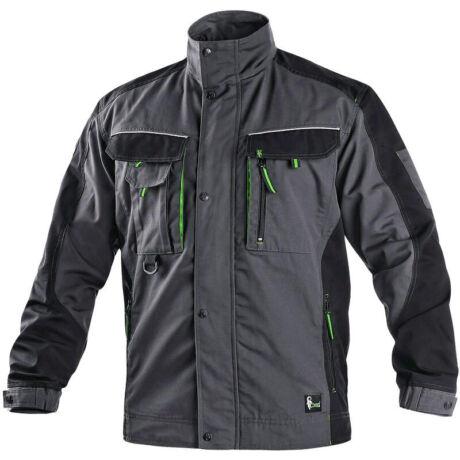CXS Sirius Lucius kabát sötétszürke/zöld