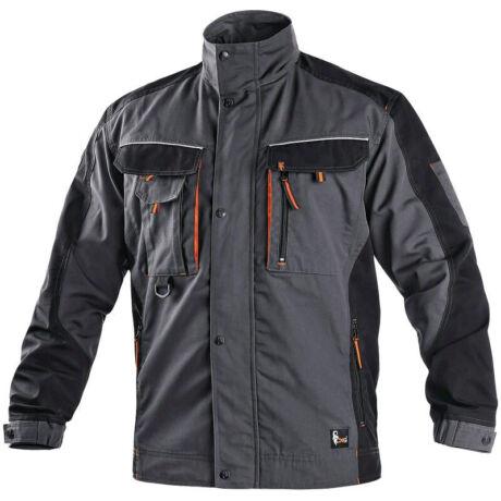 CXS Sirius Lucius kabát sötétszürke/narancs