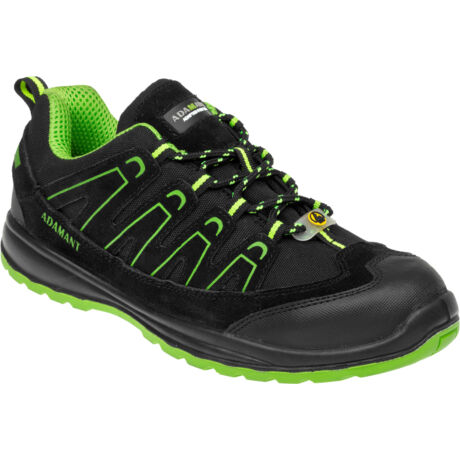 Adamant Alegro S1P ESD fekete/zöld félcipő