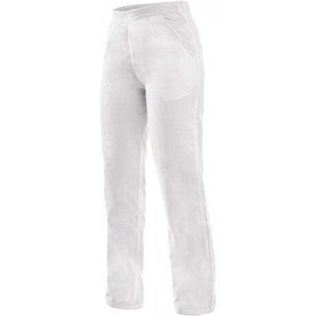 CXS Darja fehér női derekas nadrág, gumírozott derék